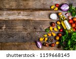 raw organic vegetables with... | Shutterstock . vector #1159668145