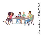 business meeting vector... | Shutterstock .eps vector #1159669042