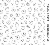 hand drawn outline seamless... | Shutterstock .eps vector #1159675462