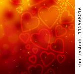 valentine's day background with ... | Shutterstock . vector #115968016