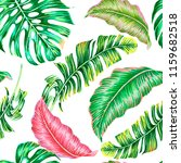 tropical leaves  monstera ... | Shutterstock .eps vector #1159682518