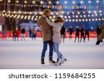 young couple in love caucasian... | Shutterstock . vector #1159684255