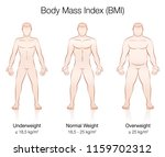 body mass index bmi.... | Shutterstock .eps vector #1159702312