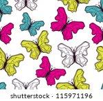 butterfly pattern | Shutterstock .eps vector #115971196