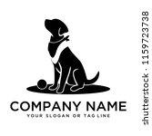 dog training logo ideas on a...   Shutterstock .eps vector #1159723738