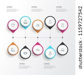 dress icons line style set with ... | Shutterstock .eps vector #1159727542