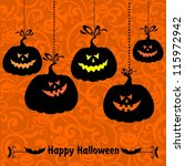 vintage card with halloween... | Shutterstock . vector #115972942
