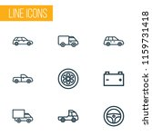 automobile icons line style set ... | Shutterstock .eps vector #1159731418