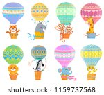 collection  with colorful  hot ... | Shutterstock .eps vector #1159737568