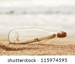 A Message In A Bottle Washed U...