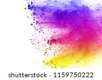 abstract of colored powder... | Shutterstock . vector #1159750222