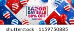labor day sale poster template... | Shutterstock .eps vector #1159750885