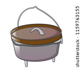 camp cauldron for cooking icon. ... | Shutterstock .eps vector #1159763155