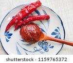 korean sources red pepper paste ...   Shutterstock . vector #1159765372