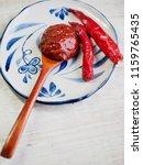 korean sources red pepper paste ...   Shutterstock . vector #1159765435