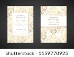 wedding invitation templates.... | Shutterstock .eps vector #1159770925