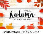 enjoy autumn sale background... | Shutterstock .eps vector #1159772215