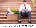 young businessman on the street ... | Shutterstock . vector #1159772605
