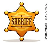 vector illustration of sheriff... | Shutterstock .eps vector #1159774072