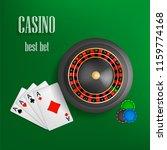 casino roulette best bet... | Shutterstock .eps vector #1159774168