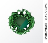 nature concept with paper cut...   Shutterstock .eps vector #1159778398