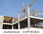 crane and building construction ... | Shutterstock . vector #1159781812