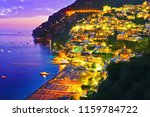 view of positano village along... | Shutterstock . vector #1159784722