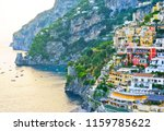 view of positano village along... | Shutterstock . vector #1159785622