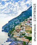 view of positano village along... | Shutterstock . vector #1159785625