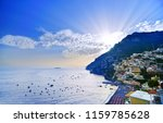 view of positano village along... | Shutterstock . vector #1159785628