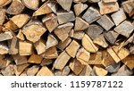 preparation of firewood for the ... | Shutterstock . vector #1159787122