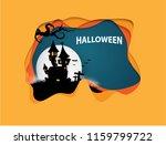 castle halloween banner... | Shutterstock .eps vector #1159799722
