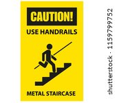 use handrails to avoid a fall   ... | Shutterstock .eps vector #1159799752