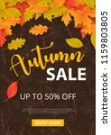 autumn sale background with... | Shutterstock .eps vector #1159803805