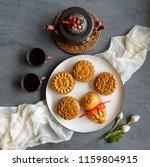 popular mooncakes eaten during... | Shutterstock . vector #1159804915