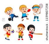 team sports for kids including... | Shutterstock . vector #1159807258