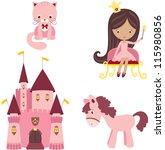vector illustration of pink... | Shutterstock .eps vector #115980856