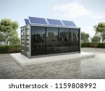 container house with solar... | Shutterstock . vector #1159808992