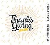 thanksgiving day. logo  text... | Shutterstock .eps vector #1159814068