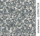 digital gray pixel camouflage... | Shutterstock .eps vector #1159817218