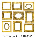 the antique gold frame on the... | Shutterstock . vector #115982305