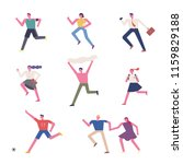 runners' characters in various... | Shutterstock .eps vector #1159829188