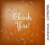 thank you card | Shutterstock .eps vector #115982986