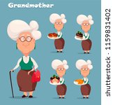 grandmother wearing eyeglasses. ... | Shutterstock .eps vector #1159831402