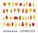 autumn tree illustration set... | Shutterstock .eps vector #1159831525