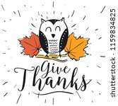 thanksgiving day. logo  text... | Shutterstock .eps vector #1159834825
