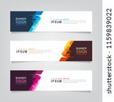 vector abstract web banner... | Shutterstock .eps vector #1159839022