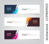 vector abstract web banner... | Shutterstock .eps vector #1159839025