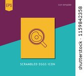 scrambled eggs icon on yellow... | Shutterstock .eps vector #1159842358