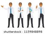 doctor set different gestures... | Shutterstock .eps vector #1159848898